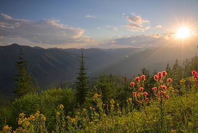 Mountain Light Poster by Idaho Scenic Images Linda Lantzy