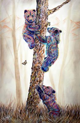 Mountain Living 1 Poster by Teshia Art