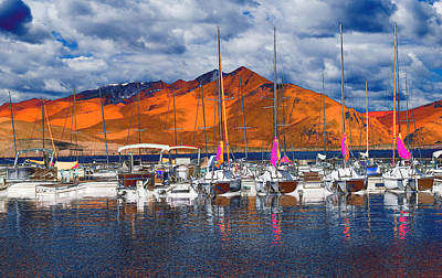 Mountain Marina Poster by Bette Levine