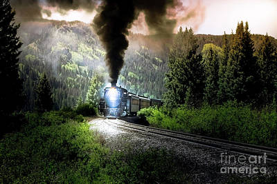 Poster featuring the photograph Mountain Railway - Morning Whistle by Robert Frederick