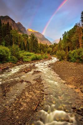 Mountain Rainbow Poster