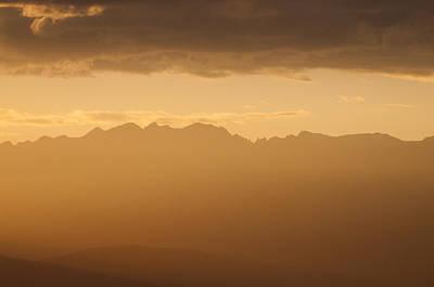 Mountain Shadows Poster by Colleen Coccia