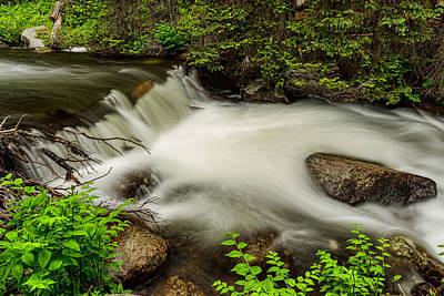 Mountain Stream Waterfall Poster