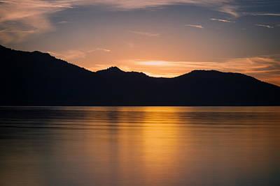 Mountain Sunset Poster by Ricky Barnard