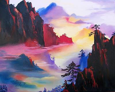 Mountain Top Sunrise Poster by Sharon Duguay
