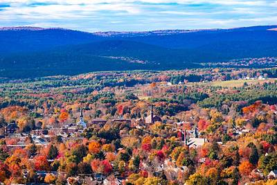 Poster featuring the photograph Mountain View Of Easthampton, Ma by Sven Kielhorn