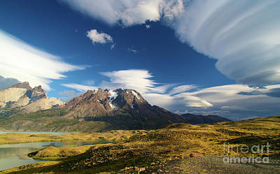 Mountains And Clouds In Patagonia Poster