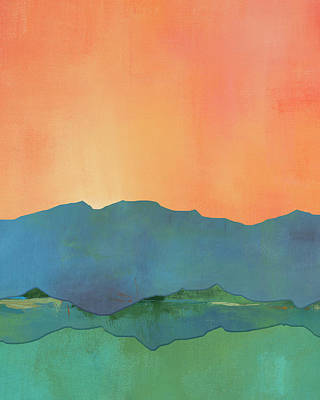 Mountains At Sunrise Poster by Jacquie Gouveia