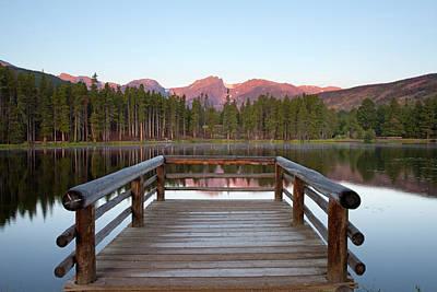 Mountains Behind Sprague Lake Poster