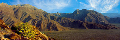Mountains In Anza Borrego Desert State Poster