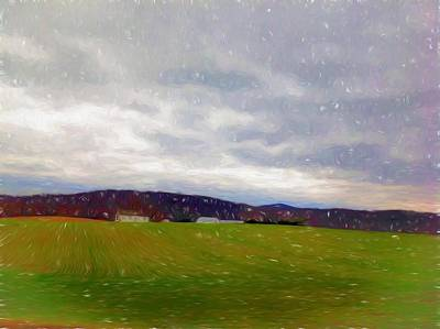 Mountains In The Distance In Winter Poster