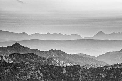 Mountains Mist At Sunset Poster by Guido Montanes Castillo