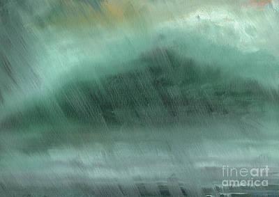 Mountains  Rain Poster