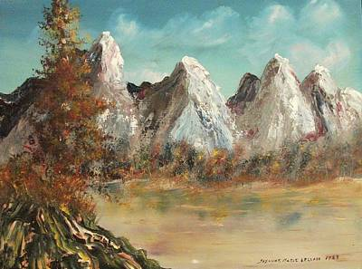 Mountains With Snow Poster by Suzanne  Marie Leclair