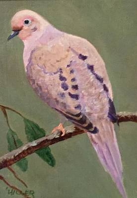 Mourning Dove Poster by Linda Hiller