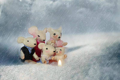 Mouse In Snow Poster