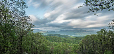 Moving Over The Blue Ridge Mountains Poster by Jon Glaser