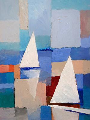 Abstract Sailboats Poster