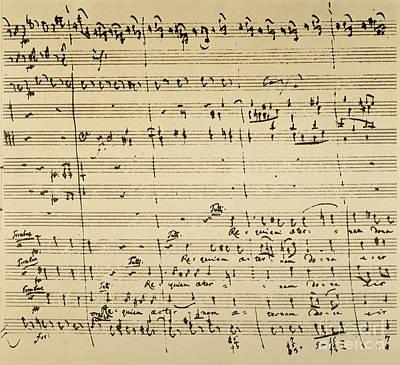 Mozart: Requiem Excerpt Poster by Granger