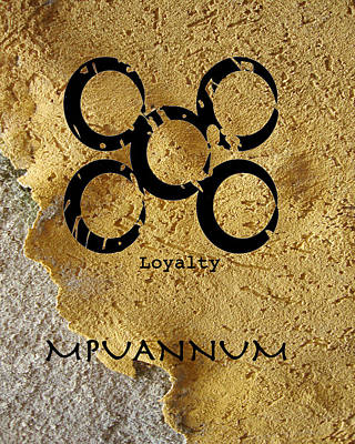 Mpuannum Adinkra Symbol Poster by Kandy Hurley