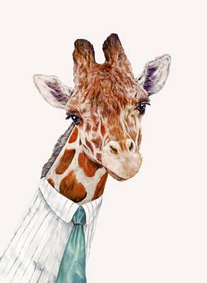 Mr Giraffe Poster by Animal Crew