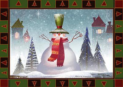 Mr. Snowman Poster by Kristina Vardazaryan