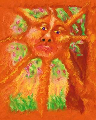 Poster featuring the painting Mr Sun by Shelley Bain