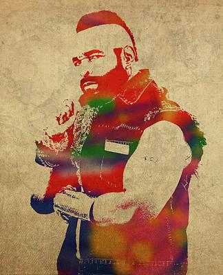 Mr T Watercolor Portrait Poster