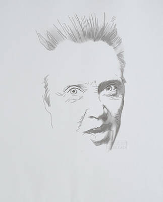 Poster featuring the mixed media Mr. Walken by TortureLord Art