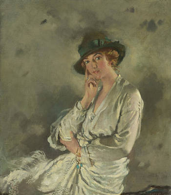 Mrs. Charles S. Carstairs Poster by William Orpen
