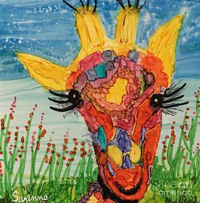 Mrs Giraffe Poster by Suzanne Canner