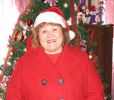 Mrs Santa Granny Jan Poster