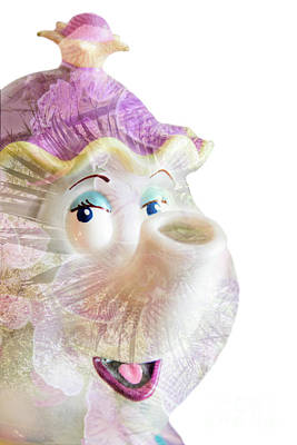 Ms Nosey Tea Poster by Pamela Williams