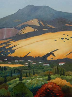 Poster featuring the painting Mt. Diablo Above by Gary Coleman