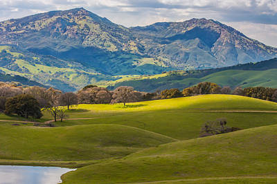 Mt. Diablo On A Spring Afternoon Poster by Marc Crumpler
