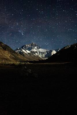 Mt Everest At Night Poster
