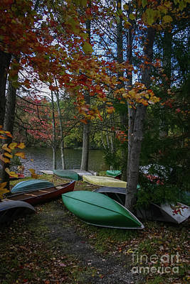Mt. Gretna Canoes In Fall Poster