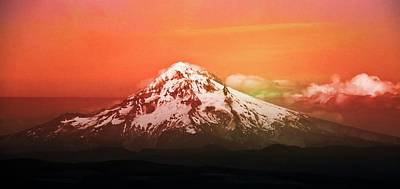 Poster featuring the photograph Mt Hood Oregon Sunset by Aaron Berg