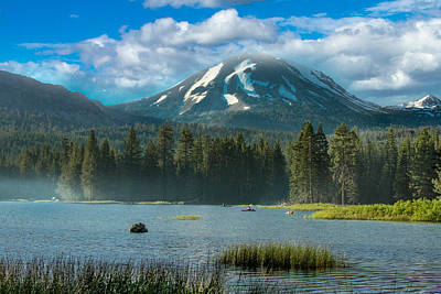 Mt Lassen From Lake Manzanita Poster
