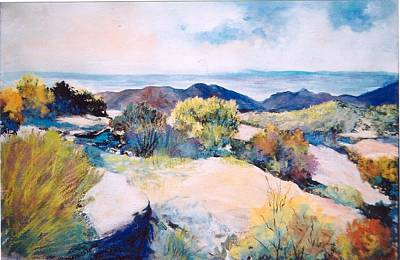 Poster featuring the painting Mt Lemmon View by M Diane Bonaparte