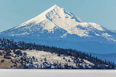 Poster featuring the photograph Mt. Mcloughlin by Marc Crumpler