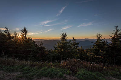 Poster featuring the photograph Mt Mitchell Sunset North Carolina 2016 by Terry DeLuco