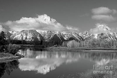Mt. Moran  In Black And White Poster