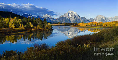 Mt. Moran On The Snake River Poster
