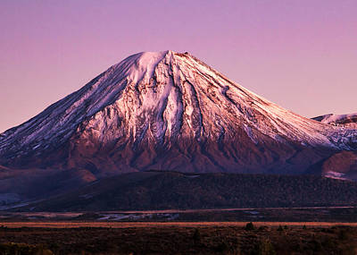 Mt Ngauruhoe Poster by Nicholas Blackwell