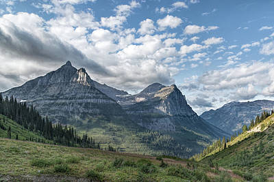 Poster featuring the photograph Mt. Oberlin From Logan Pass by Jemmy Archer