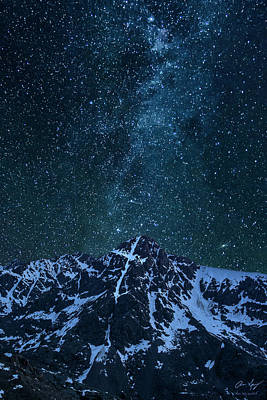 Poster featuring the photograph Mt. Of The Holy Cross Milky Way by Aaron Spong