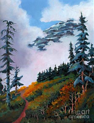 Mt. Rainier 4 Poster by Marta Styk