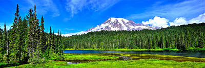 Mt. Rainier From Reflection Lakes Poster
