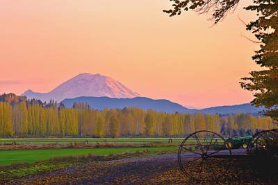 Mt Rainier From The Redmond Valley Poster by Alvin Kroon